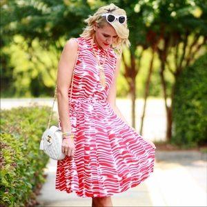 Cabi Drop Waist Pleated Skirt Dress Size Small